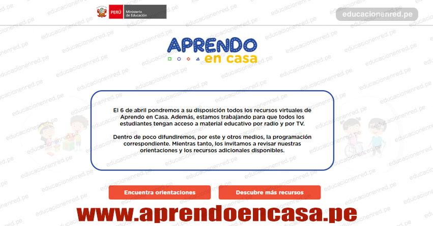 WWW.APRENDOENCASA.PE - Este lunes 6 de abril se inicia educación escolar a distancia en todo el Perú, informó el MINEDU [VIDEO]