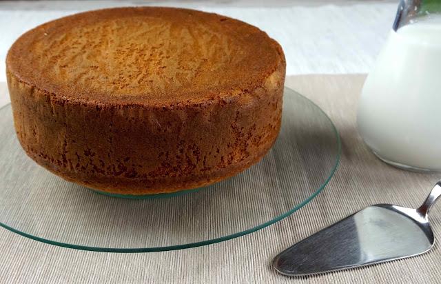 bizcocho de vainilla básico para tartas