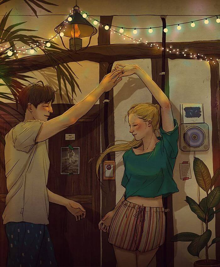 22 Beautiful Illustrations That Prove The Magic Of Love - Dancing Through The Night