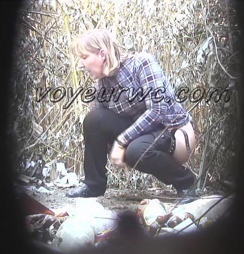 PissHunters 8834-8849 (Outdoor voyeur peeing. Voyeur public toilet spy cam)