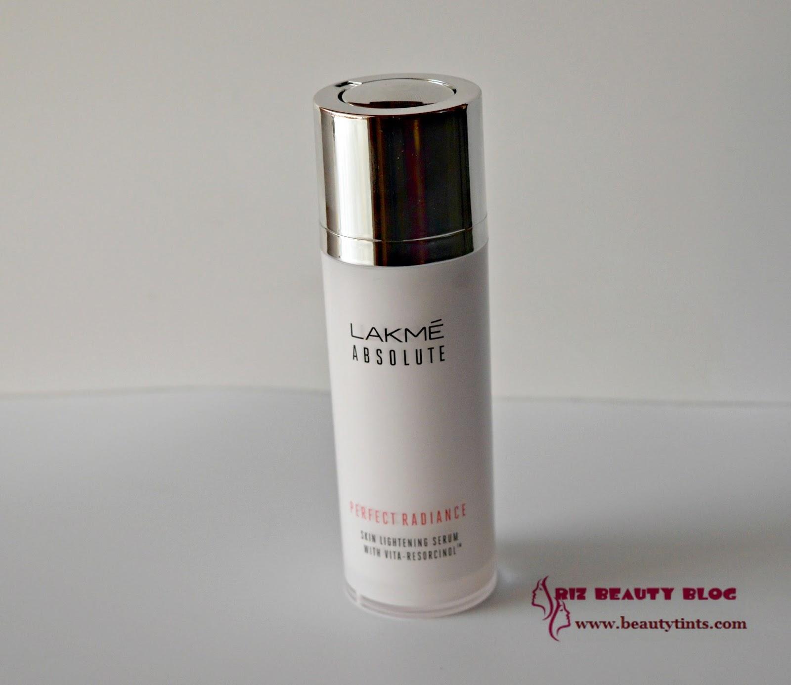 Sriz Beauty Blog Lakme Absolute Perfect Radiance Skin Lightening Serum Review