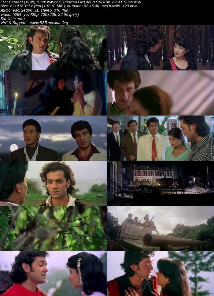 Barsaat (1995) Hindi 480p DVDRip x264