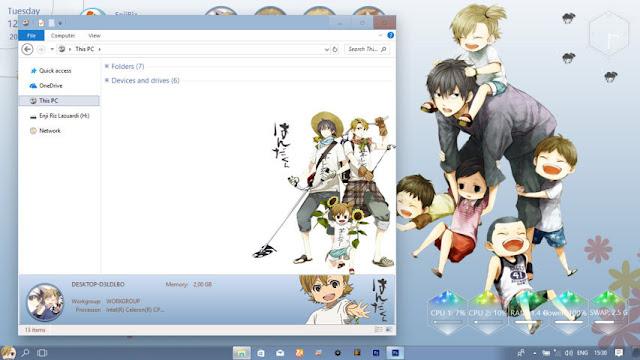 Windows 10 Ver. 1709 Theme Barakamon by Enji Riz