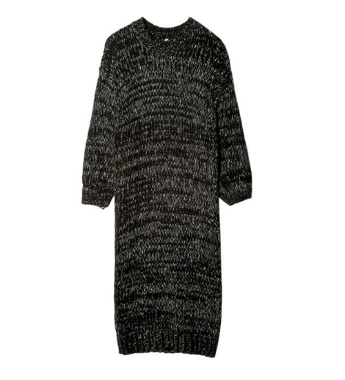 Dropped Shoulder Knit Dress