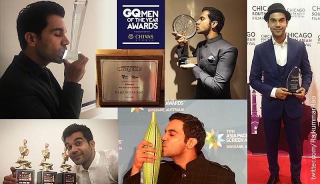 rajkummar rao, won awards, moments, celebrations, bollywood actor, screen awards, national award, best actor, melbourne film festival, filmfare, indian awards