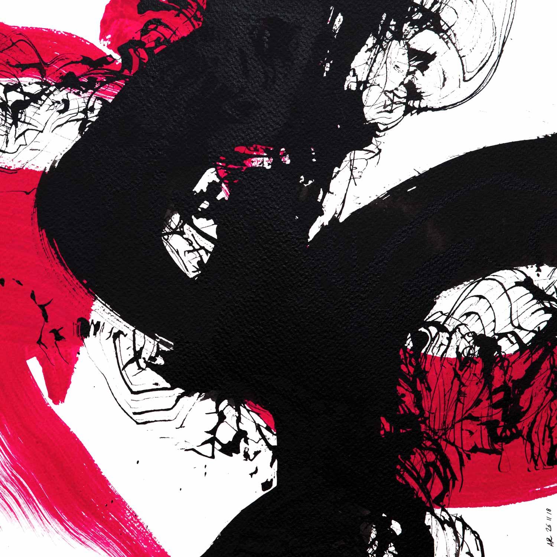 Aquarelle et encre de chine sur papier, 30 x 30 cm, nov. 18 © Annik Reymond