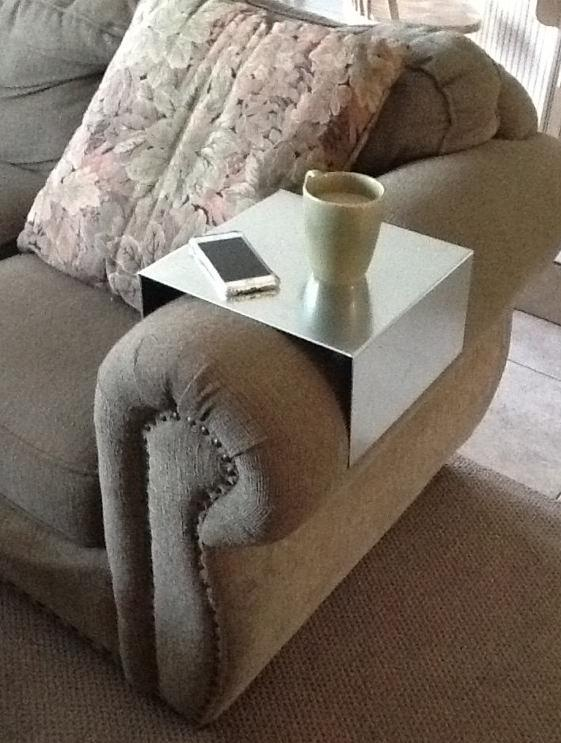 Sofa Armrest Table Stand With Storage Pocket The Is A Handcrafted Tray For Your Newspapers