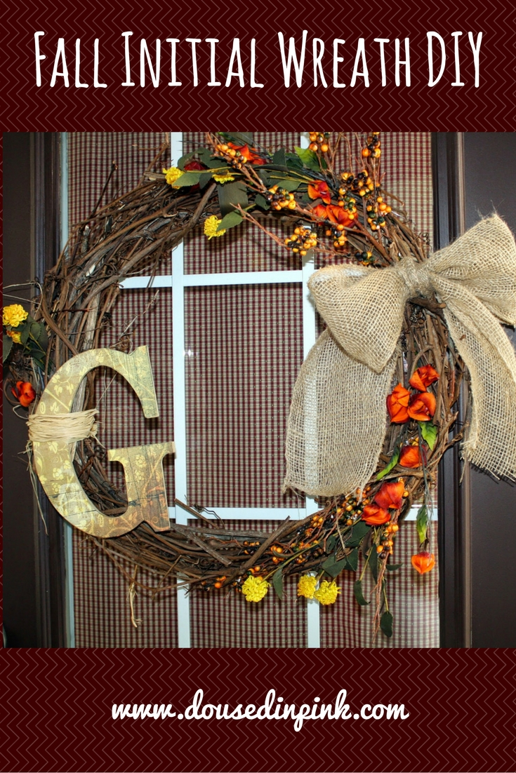 Easy Personalized Fall Monogram Wreath DIY