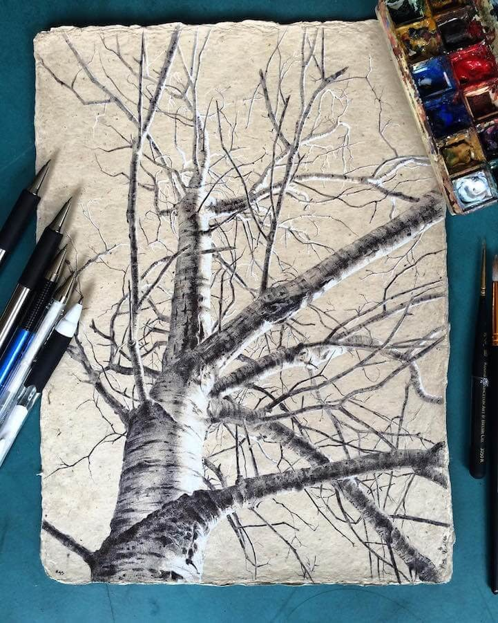 04-Dina-Brodsky-Tree-Drawings-www-designstack-co