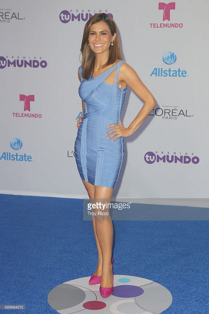Herve Leger Sightings Vanessa Hauc At Telemundos Premios Tu Mundo Awards In Miami