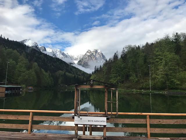 Berg und See, Hochzeit, Instagram und Social Media, heiraten in Garmisch, Riessersee Hotel, Bayern, Berghochzeit, Natur, See, Mai