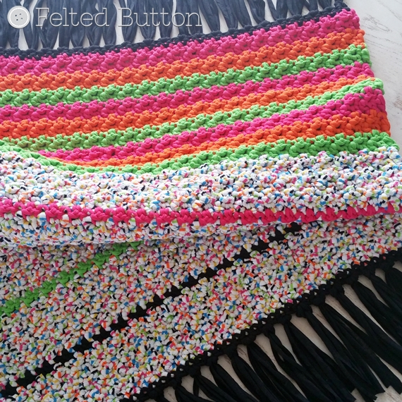 Crochet Rug Patterns For Beginners : Felted Button - Colorful Crochet Patterns: All Sorts Rug ...