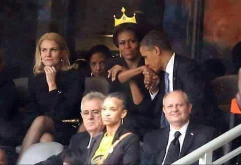 Lol! The world will never forget this Obama Family episode in South Africa