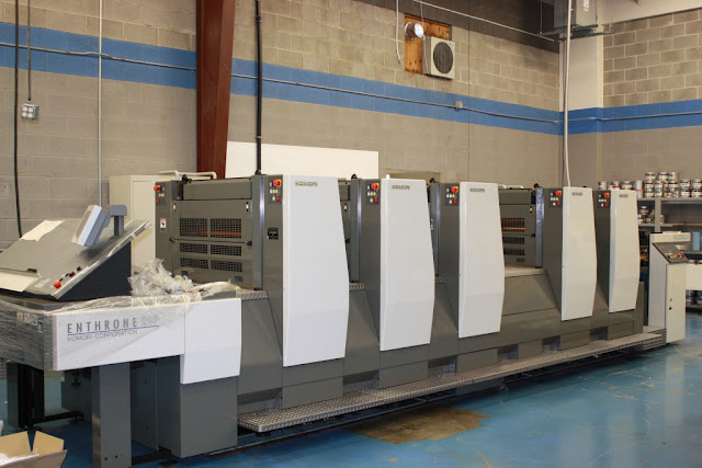 Offset Printing Press at McNeil Printing in Orem Utah