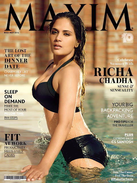 Actress, @ Richa Chadda - Maxim India, May 2016