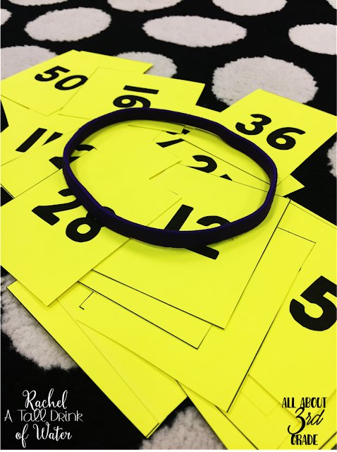 Help your students learn their multiplication facts by playing Headbands!