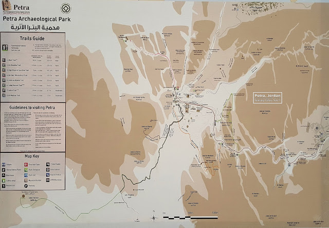 Map of Petra Jordan