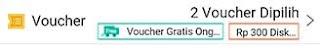 Voucher telah dipilih - cara pakai voucher di shopee - Kholid Farhan