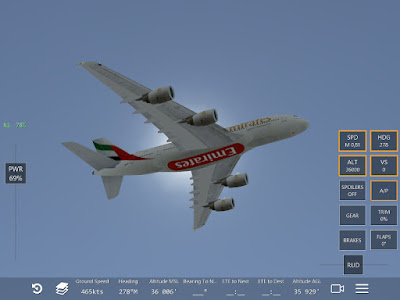 Copie écran du jeu Infinite Flight A380