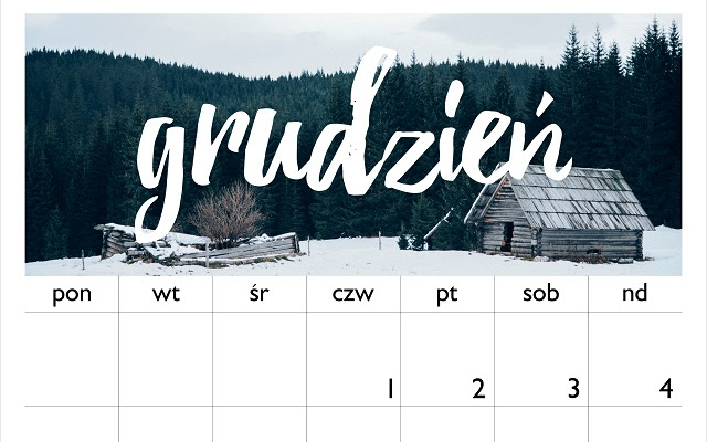 Nowy kalendarz do pobrania - Grudzień 2016 - CZYTAJ DALEJ