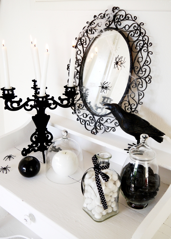 Black And White Halloween Decorating Ideas Party