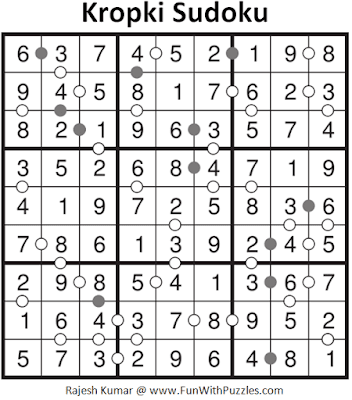 Answer of Kropki Sudoku Puzzle (Fun With Sudoku #280)
