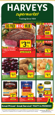 Harveys supermarket weekly ad