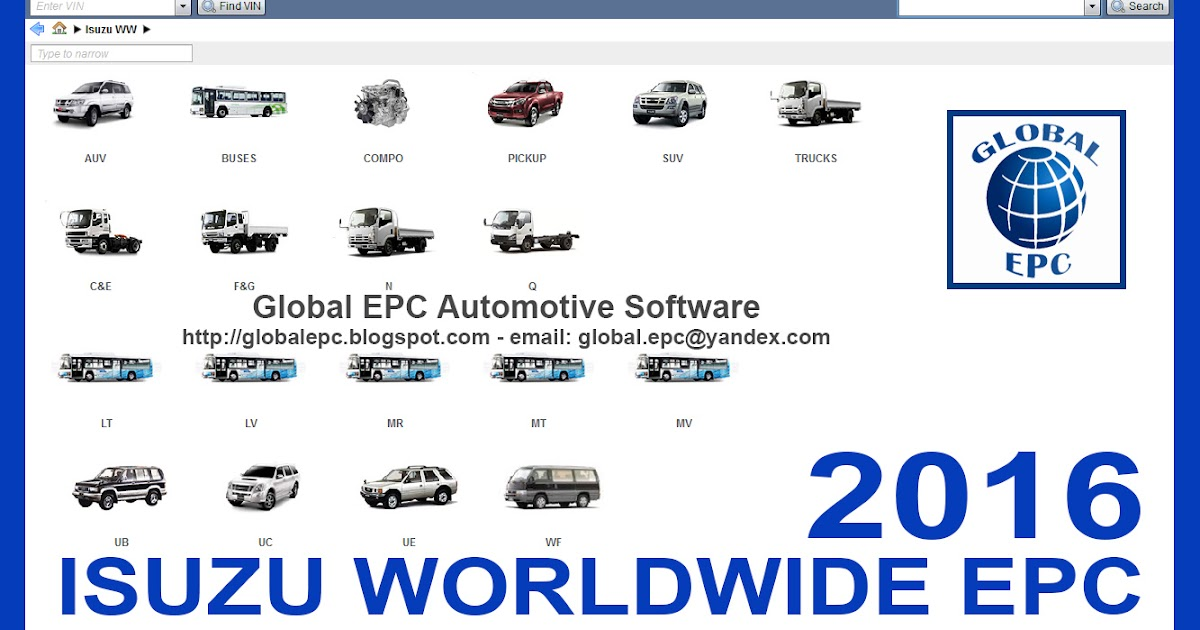 GLOBAL EPC AUTOMOTIVE SOFTWARE: ISUZU WORLDWIDE EPC PARTS CATALOGUE ...