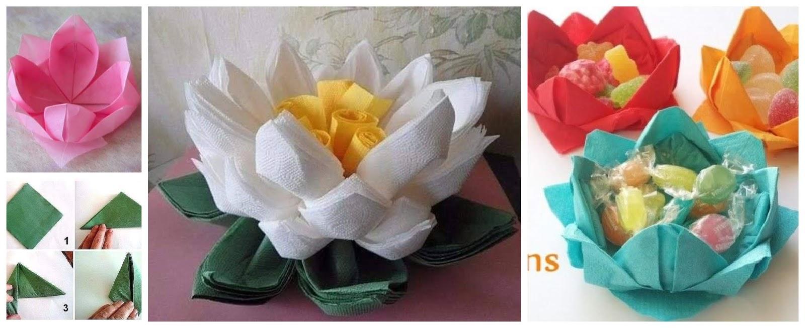 Aprende Cómo Hacer Flores De Loto Con Servilletas De Papel Mimundomanual