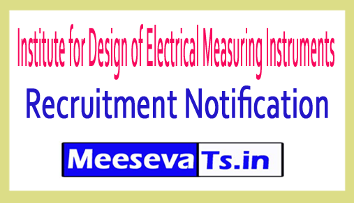 Institute for Design of Electrical Measuring Instruments IDEMI Recruitment