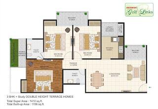 1410-sq.ft.-3bhk-floor-plan-Antriksh-Golf-link