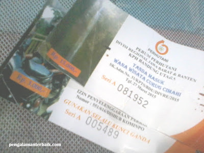 Harga Tiket masuk wisata alam Curug Cimahi (Curug Pelangi)