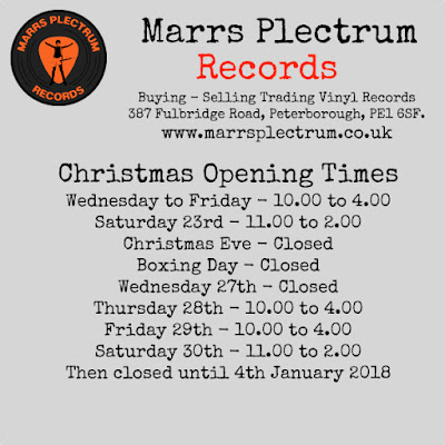 Christmas and New Year opening at Plectrum HQ...