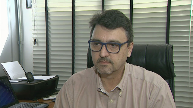 O superintendente do Serviço Autônomo de Água e Esgoto de Barretos (SP), Silvio Brito (Foto: Reprodução/EPTV)