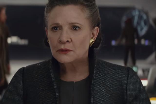 La Princesse Leia Organa (Carrie Fisher) dans Star Wars 8, les derniers jedi