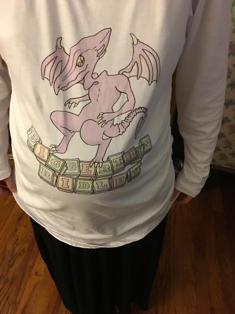 Bigger than Ridley maternity pregnancy shirt