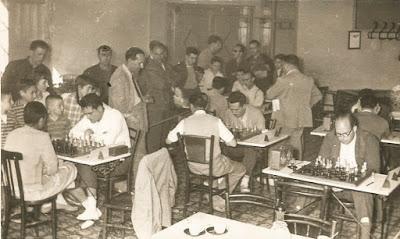 Cuarta ronda del Torneo de Ajedrez de La Pobla de Lillet 1957