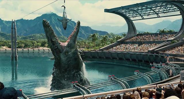 Dinosaur eating in Jurassic world