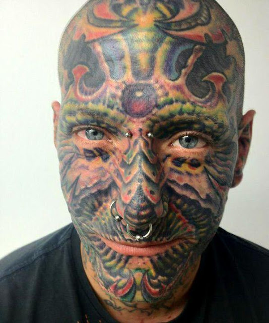 Cool Face Tattoos: Fenryss: Tattooed Face Colection