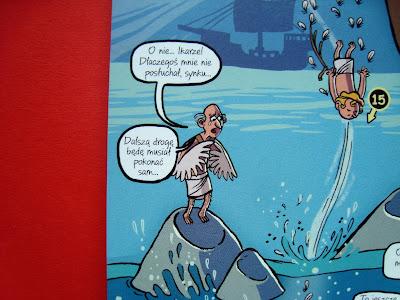 Mity greckie dla dzieci w obrazkach, komiks, Nikola Kucharska, Dedal i Ikar