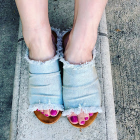 Mi.iM, Miracle Miles, shoes, Mi.iM Indira Sunbleached Denim Slides, #ShoesdayTuesday