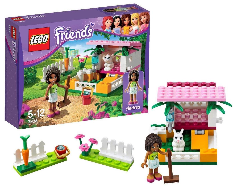 New Lego Friends 3938 Andrea's Bunny House Minifigure Playset Bricks 62 PC Set 673419165815