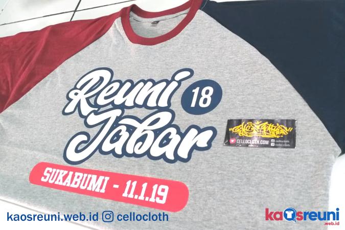 Kaos Reuni Jabar 18 Tahun Sukabumi - Kaos Reuni Online