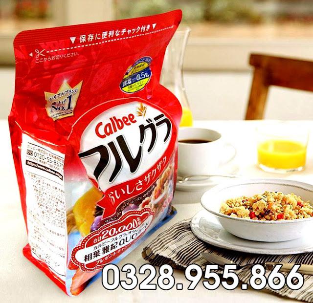 Giá ngũ cốc calbee nhật bản bao nhiêu ?