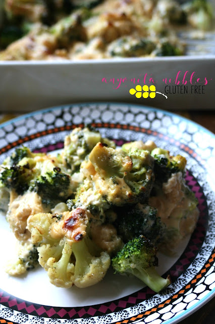 How to make a gluten free broccoli and cauliflower cheese bake from Anyonita-Nibbles