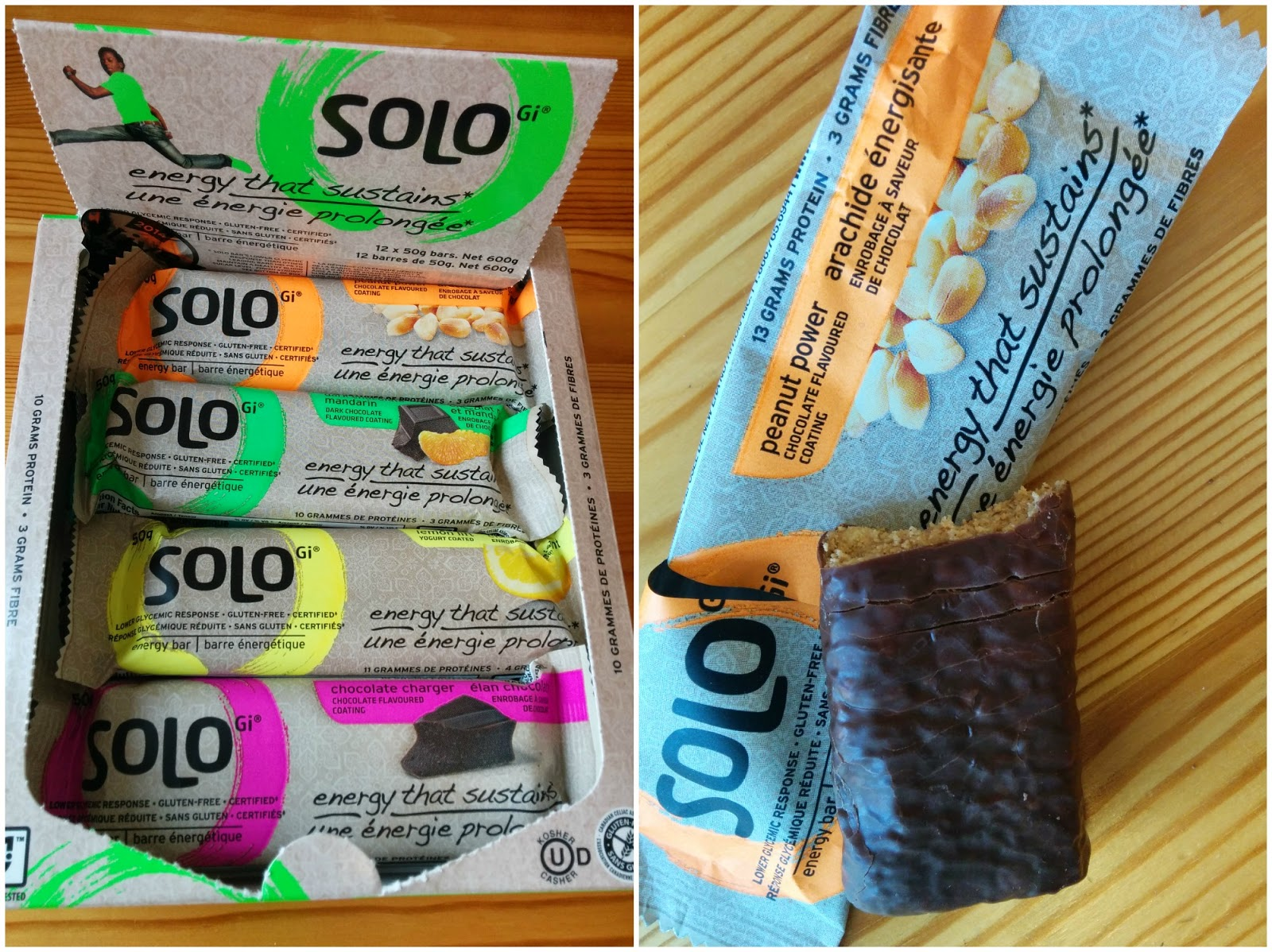 SoLo energy and nutrition bars
