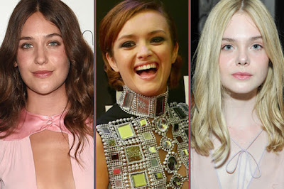 "Elle Fanning, ""Me and Earl and the Dying Girl"" star Olivia Cooke and ""Mistress America"" breakout Lola Kirke"