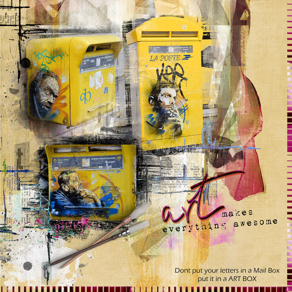 clindoeildesign NBK designs ART & Journal Arsty scrap