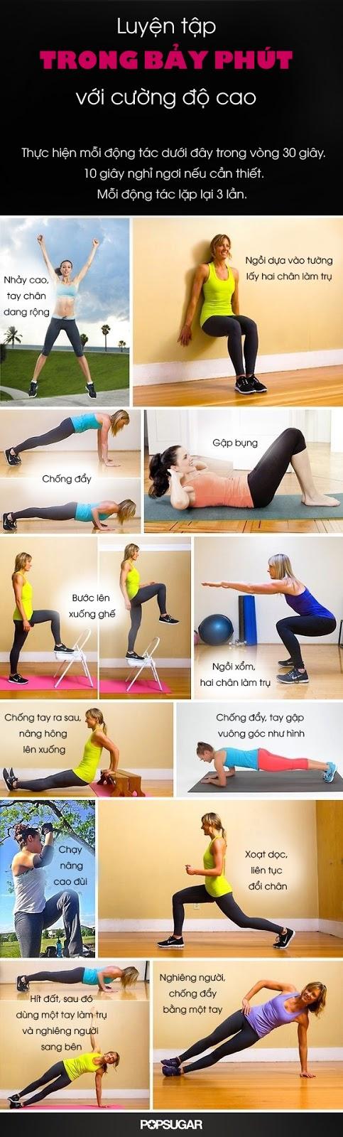 7 phút giúp giảm cân nhanh chóng cho người bận rộn