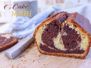 Le cake marbré chocolat et vanille